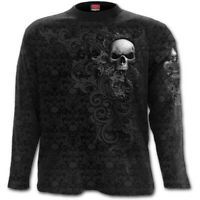 Spiral Direct SKULL SCROLL Long sleeve T-Shirt Gothic/Bones/Skulls/Reaper/Death