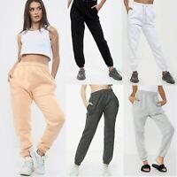 Womens Oversized Joggers Sweatpants Cuffed Bottoms Ladies Jogging Gym Pants Size