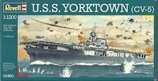 KIT REVELL 1:1200 NAVE PORTAEREI U.S.S. YORKTOWN CV-5 LUNGHEZZA 20,6 CM    05800