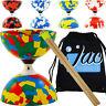 Jester Bearing Diabolo Set, Wooden Sticks & Bag Kids Diablo Toy & Handsticks
