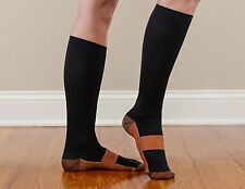 Copper Compression Socks Graduated Support Stockings Calf Men's Women's (S-XXL)