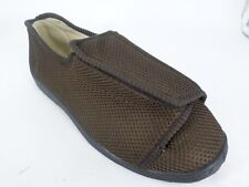 e11203a34aac Mirak Mens Touch Fastening Extra Wide Slippers Brown UK 8 EU 42 LN085 OO 07