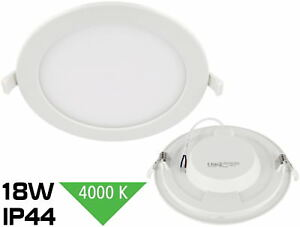 Slim LED 18W Malo Foco Empotrable IP44 230V 1450lm 4000K Humidor