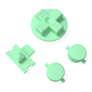 Game Boy Buttons Pastel Light Green Replacement Nintendo Mod DPad Power Switch