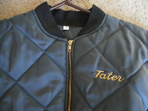 """"""" Tater """"  Mens Vintage Coat Jacket Dark Gray or Steel Blue  41"""" Ch Small"""
