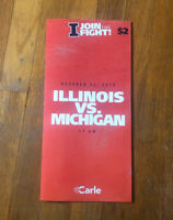 2019 Illinois Fighting Illini vs Michigan Wolverines Football Program Nice
