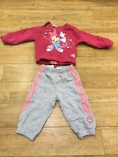 Adidas Baby Toddler Girl Tracksuit 6-9 Months Minnie Mouse Hologram Infant Pink