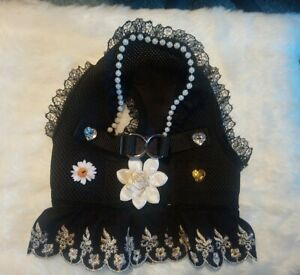 size large black&gold Broderie Anglaise  harness dress SOLD to Keen to pay. .