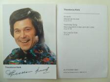-ta- Theodorus Kerk (Sänger), Autogrammkarte