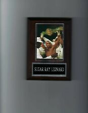 SUGAR RAY LEONARD PLAQUE BOXING CHAMPION WITH BELT