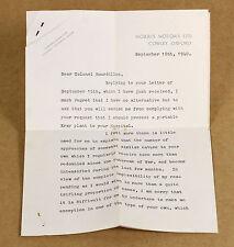 1940 WILLIAM MORRIS | TLS | car manufacturer, philanthropist rejects x-ray plea