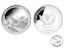 Kongo 20 Francs 2021 Quetzalcoatlus (6.) 1 oz 999 AG Anlage Münze Dinosaurier