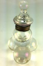 Antique Unique Victorian Glass Balls  OPALESCENT BUBBLE DESKTOP Inkwell