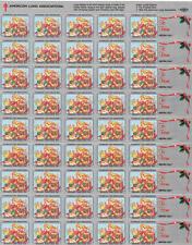 US Lung Association Christmas Seals MNH sheet Teddy Bears Elves 1994