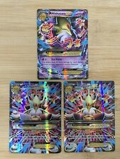 Pokémon: Mega Alakazam EX x 3 - Fates Collide 26 & 118/124(2) Ultra Rare Holo
