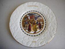 COALPORT 1976 CHRISTMAS PLATE XMAS EVE IN BOX WITH LEAFLET DIAMETER 22.5CM