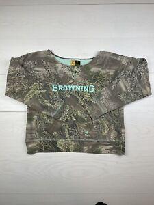 Browning Womens Size XL Camouflage Sweatshirt