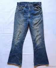 LEVIS Vintage 646 Pants 70's BELLBOTTOM Denim Jeans Indigo Zipper Fly Hippy