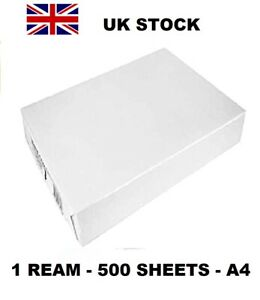 A4 WHITE COPIER PRINTER PAPER - 1 REAMS OF 500 SHEETS £ 5.79 CHEAPEST ON EBAY