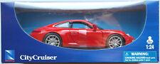 Newray-Porsche 911 carrera 4 (991) rojo 1:24 nuevo/en el embalaje original maqueta de coche