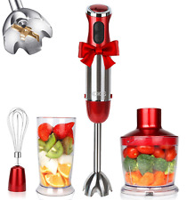 KOIOS, Powerful 800W Immersion Multi-Purpose 4-in-1 Hand Blender, 12-Speed, Red