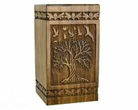 Wooden Handcrafted Cremation Burial Funeral Memorial Urns Human Pet Ashes SWU73