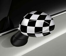 Original MINI Checkered Flag B/W Aussenspiegelkappen Set 2348090 + 2409449