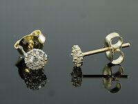 585 Gold Ohrstecker 4 mm Grösse 1 Paar mit Zirkonia Steinen