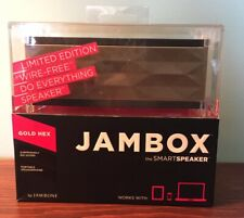 Brand New-Jambox by Jawbone Mini Limited Edition Gold Hex Wire-Free Speaker-Open