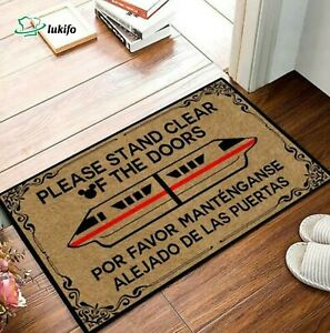 Please Stand Clear Of Doors Monorail Doormat