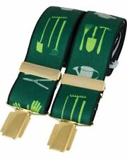 David Van Hagen Mens Gardening Braces - Green