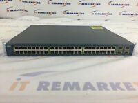 Cisco Catalyst 3560 v2 WS-C3560V2-48PS-S V06 48-Port PoE Managed Switch - READ