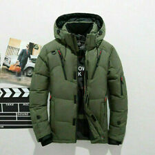 Men's Duck Down Jacket Snow Hooded Coat Climbing Oversize NVT65