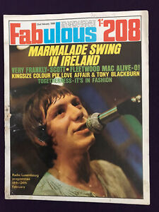 FABULOUS 208 Magazine 22nd Feb 1969 Pop Music Fashion MARMALADE Fleetwood Mac