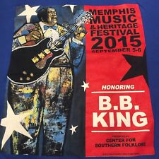 Memphis Music & Heritage Festival Shirt 2015 Honoring BB King - Large