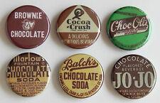 Chocolate Soda FRIDGE MAGNET Set (1.25 inches each) sign milk crush