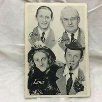 Vtg 1943 NBC WTAM Radio Star Calendar Gene Glenn Lena Jake Characters Card