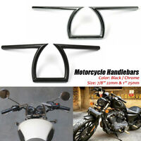 "Motorcycle 7/8"" &1"" Z Handlebars Drag Bar For Honda Yamaha Suzuki Chopper Bobber"