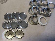 "13 Vintage 2.5"" Wide Mouth Mason Canning Jar Caps"