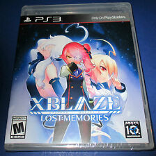 XBlaze Lost: Memories Sony PlayStation 3 (PS3) Factory Sealed! Free Shipping!