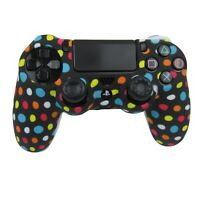 PS4 Controller Grip Skin Polka Dot Silicone Case Soft Gel Shell Non Slip