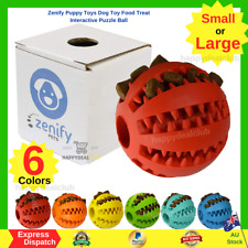 Zenify Puppy Toys Dog Toy Food Treat Interactive Puzzle Ball for Tooth Teething