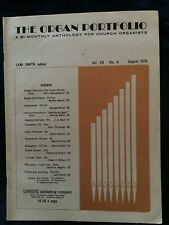 The Organ Portfolio For Church Organists Sheet Music Book 66 Pages Aug 1976