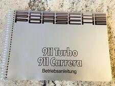 Porsche 911 Carrera Turbo G-Modell Betriebsanleitung Bedienungsanleitung