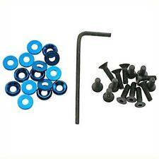OFNA Blue Aluminum 3mm Concave w/3x12mm FH Screw (15) 10344