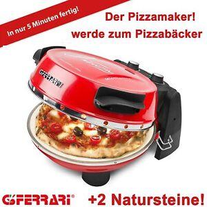 G3 Ferrari Pizzamaker EXPRESS Napoletana rot,1200 Watt,Thermostat,2 Natursteine