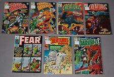 Marvel Horror 7pc Silver Age Comic Lot Creatures Fear Chamber Of Darkness