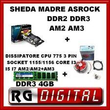 SCHEDA MADRE ASROCK 960 SOCKET AM3+MEMORIA RAM 4GB DDR3+DISSIPATORE 775 3PIN