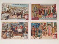 Vintage Victorian Trade Cards Liebig Set of 4 Antique Ads