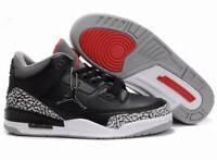 Muk5 Men's retro J 3 basketball shoes High Top White Sneakers size 7-13